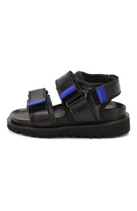 Детские кожаные сандалии GALLUCCI черного цвета, арт. J10078AM/SA P C G0M KY0/RAD | Фото 2