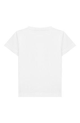 Детский хлопковая футболка IL GUFO белого цвета, арт. P20TS230M0014/3M-9M | Фото 2