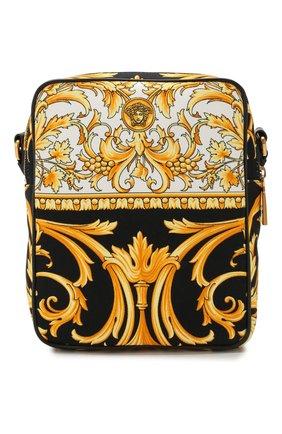 Мужская текстильная сумка VERSACE золотого цвета, арт. DL27806/DCAST7   Фото 1