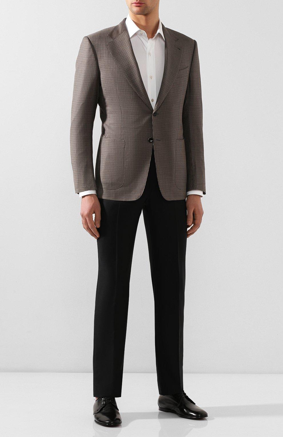 Мужские кожаные дерби erice DOLCE & GABBANA черного цвета, арт. A10549/AX199 | Фото 2