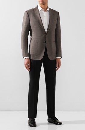Мужской кожаные дерби erice DOLCE & GABBANA черного цвета, арт. A10549/AX199 | Фото 2