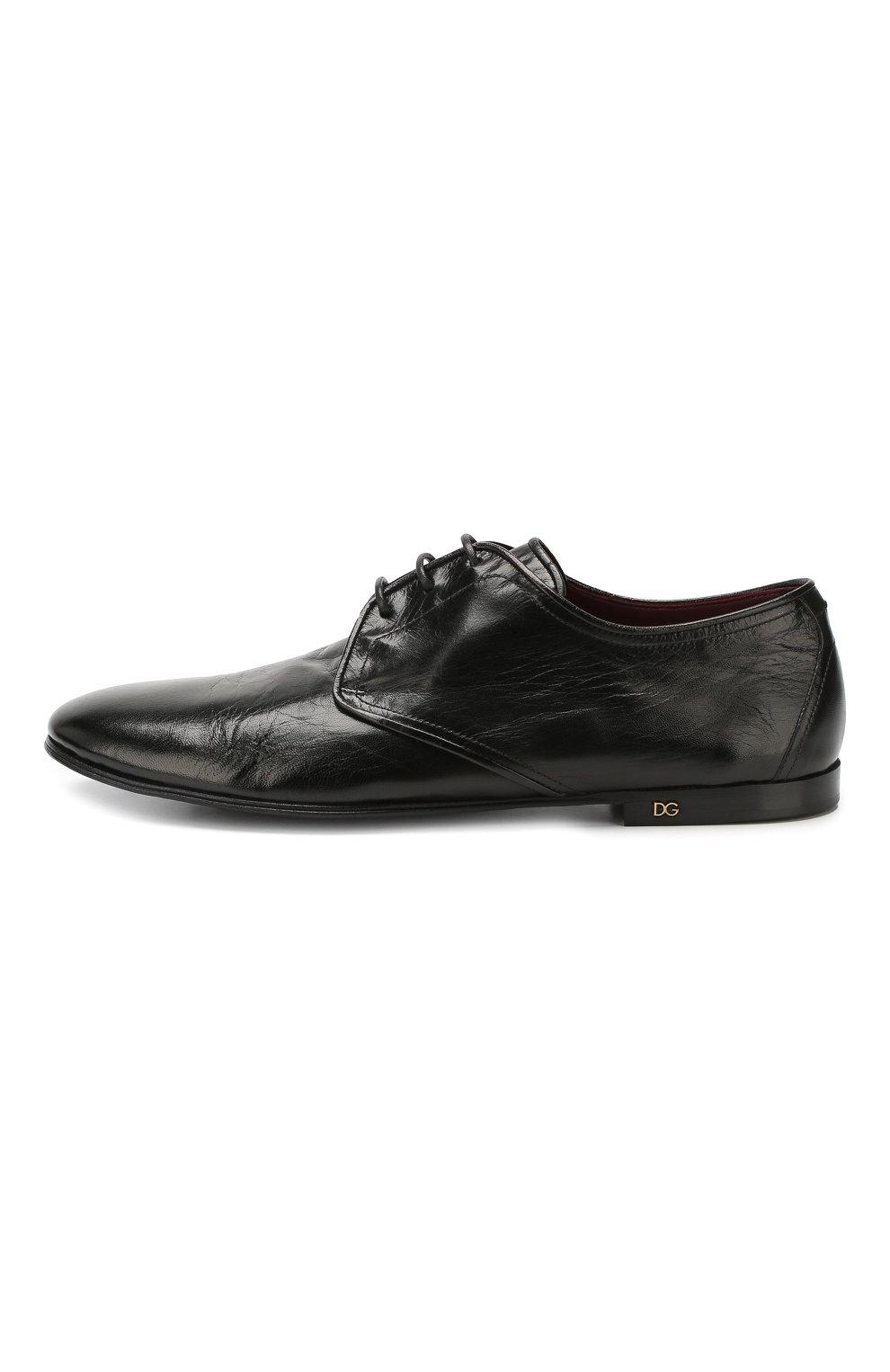 Мужские кожаные дерби erice DOLCE & GABBANA черного цвета, арт. A10549/AX199 | Фото 3