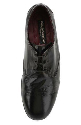 Мужские кожаные дерби erice DOLCE & GABBANA черного цвета, арт. A10549/AX199 | Фото 5