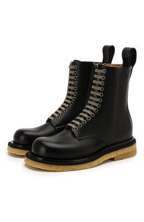 Мужские кожаные ботинки BOTTEGA VENETA черного цвета, арт. 610338/VBSB0 | Фото 1