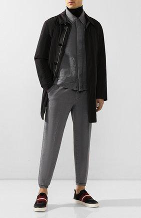 Мужские комбинированные кеды hemon BALLY черного цвета, арт. HEM0N-T/00   Фото 2