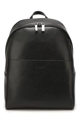 Мужской кожаный рюкзак CANALI черного цвета, арт. P325924/NA00053 | Фото 1 (Материал: Натуральная кожа)