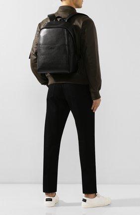 Мужской кожаный рюкзак CANALI черного цвета, арт. P325924/NA00053 | Фото 2 (Материал: Натуральная кожа)