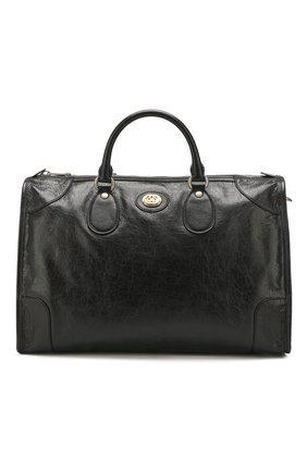 Мужская кожаная дорожная сумка morpheus GUCCI черного цвета, арт. 575820/1GZAX | Фото 1
