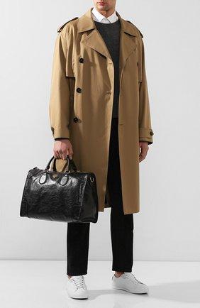 Мужская кожаная дорожная сумка morpheus GUCCI черного цвета, арт. 575820/1GZAX | Фото 2