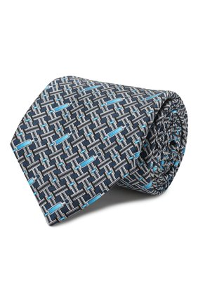 Мужской шелковый галстук ZILLI голубого цвета, арт. 50200/TIES | Фото 1