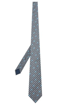 Мужской шелковый галстук ZILLI голубого цвета, арт. 50200/TIES | Фото 2