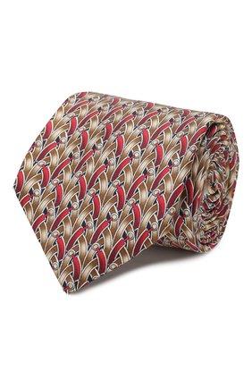 Мужской шелковый галстук ZILLI коричневого цвета, арт. 50209/TIES | Фото 1