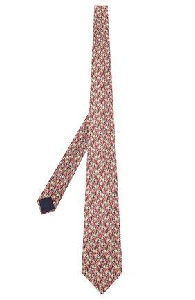 Мужской шелковый галстук ZILLI коричневого цвета, арт. 50209/TIES | Фото 2