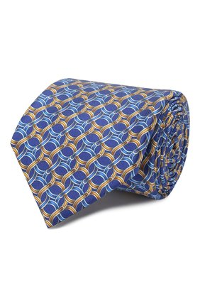 Мужской шелковый галстук ZILLI голубого цвета, арт. 50212/TIES | Фото 1