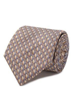 Мужской шелковый галстук ZILLI бежевого цвета, арт. 50224/TIES   Фото 1
