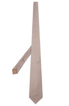 Мужской шелковый галстук ZILLI бежевого цвета, арт. 50224/TIES   Фото 2