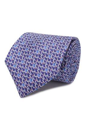 Мужской шелковый галстук ZILLI фиолетового цвета, арт. 50236/TIES | Фото 1 (Материал: Текстиль; Принт: С принтом)