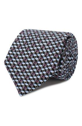 Мужской шелковый галстук ZILLI серого цвета, арт. 50242/TIES | Фото 1
