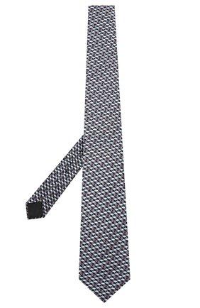 Мужской шелковый галстук ZILLI серого цвета, арт. 50242/TIES | Фото 2