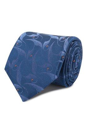 Мужской шелковый галстук ZILLI голубого цвета, арт. 50323/TIES | Фото 1
