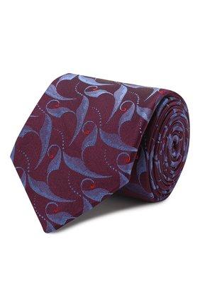 Мужской шелковый галстук ZILLI фиолетового цвета, арт. 50323/TIES | Фото 1