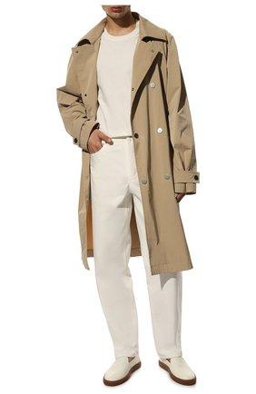 Мужские кожаные слипоны BARRETT белого цвета, арт. TAHITI-01.4/MASTCALF | Фото 2 (Материал внутренний: Натуральная кожа; Стили: Кэжуэл)
