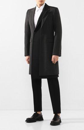 Мужской кожаные дерби JIL SANDER черного цвета, арт. JI34519A-11590 | Фото 2