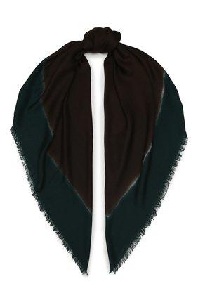 Мужской шарф из смеси шерсти и шелка ERMENEGILDO ZEGNA зеленого цвета, арт. Z7L51/2D8 | Фото 1