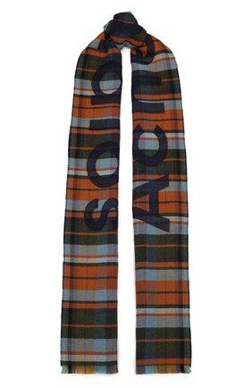 Мужской шерстяной шарф ACNE STUDIOS оранжевого цвета, арт. CA0022/M | Фото 1