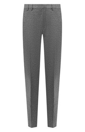 Мужской брюки из вискозы HUGO серого цвета, арт. 50428055 | Фото 1