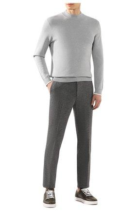 Мужской брюки из вискозы HUGO серого цвета, арт. 50428055 | Фото 2