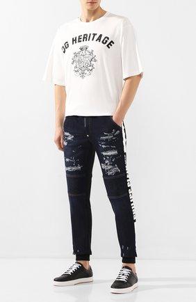 Мужские джинсы PHILIPP PLEIN темно-синего цвета, арт. S20C MDT2033 PDE004N | Фото 2