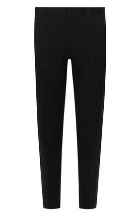 Мужской хлопковые брюки DOLCE & GABBANA черного цвета, арт. GW13ET/FUFJR | Фото 1
