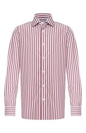 Мужская хлопковая сорочка LUIGI BORRELLI бордового цвета, арт. EV08/LUCIAN0/TS9395 | Фото 1