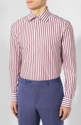 Мужская хлопковая сорочка LUIGI BORRELLI бордового цвета, арт. EV08/LUCIAN0/TS9395 | Фото 3