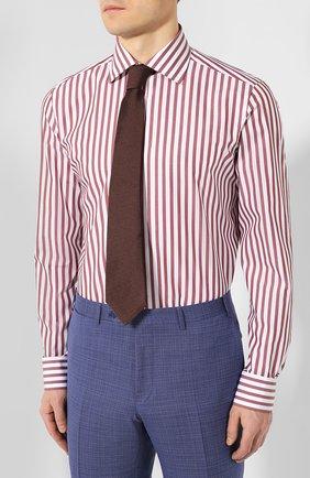 Мужская хлопковая сорочка LUIGI BORRELLI бордового цвета, арт. EV08/LUCIAN0/TS9395 | Фото 4