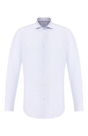 Мужская хлопковая сорочка LORO PIANA голубого цвета, арт. FAL0388 | Фото 1