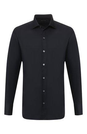 Мужская хлопковая сорочка TOM FORD черного цвета, арт. 7FT195/94S3AX | Фото 1