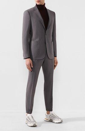 Мужской шерстяной костюм Z ZEGNA серого цвета, арт. 724729/2XPYGW | Фото 1