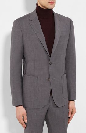Мужской шерстяной костюм Z ZEGNA серого цвета, арт. 724729/2XPYGW | Фото 2