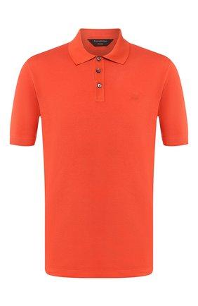 Мужское хлопковое поло ZEGNA COUTURE оранжевого цвета, арт. CUC96/C32 | Фото 1