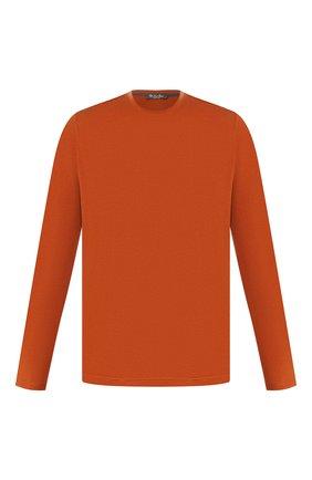 Мужская лонгслив из шелка и хлопка LORO PIANA оранжевого цвета, арт. FAF6129 | Фото 1