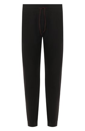 Мужские шерстяные джоггеры LORO PIANA темно-серого цвета, арт. FAI9493 | Фото 1 (Материал внешний: Шерсть; Длина (брюки, джинсы): Стандартные; Силуэт М (брюки): Джоггеры; Мужское Кросс-КТ: Брюки-трикотаж, Джоггеры-одежда)