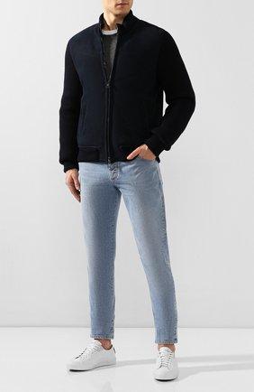 Мужская дубленка ANDREA CAMPAGNA темно-синего цвета, арт. A8T305/6800 | Фото 2