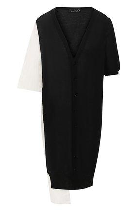 Женский кардиган из смеси хлопка и вискозы Y`S черного цвета, арт. YS-K83-247 | Фото 1