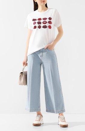 Женская хлопковая футболка ESCADA SPORT белого цвета, арт. 5032017 | Фото 2