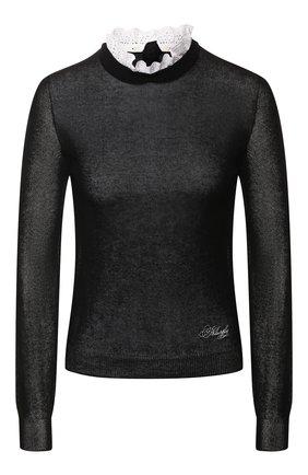 Женская пуловер из вискозы PHILOSOPHY DI LORENZO SERAFINI черного цвета, арт. V0924/706 | Фото 1