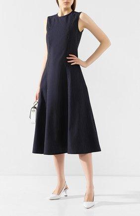 Женское шерстяное платье POLO RALPH LAUREN темно-синего цвета, арт. 211781197 | Фото 2