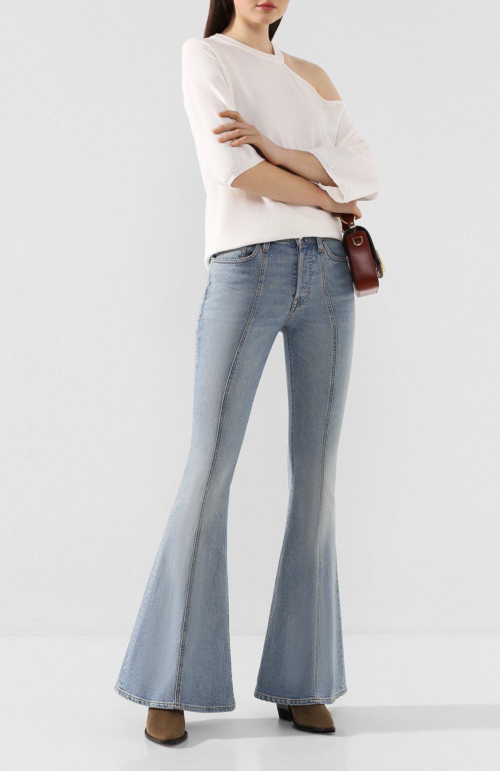 Женские расклешенные джинсы 3X1 синего цвета, арт. WP0210754/CL0UD | Фото 2