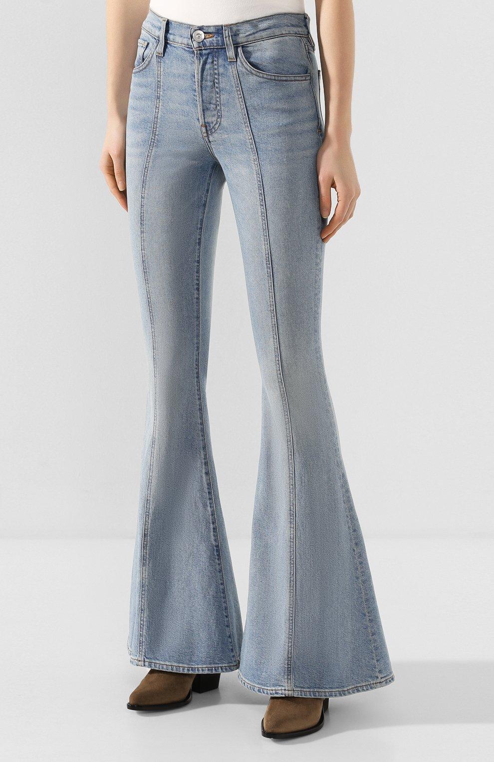 Женские расклешенные джинсы 3X1 синего цвета, арт. WP0210754/CL0UD | Фото 3